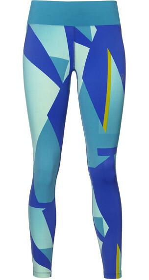 asics fuzeX - Pantalones Running Mujer - verde/azul